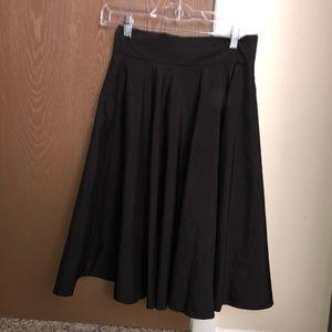 Black Shein below the knee skirt